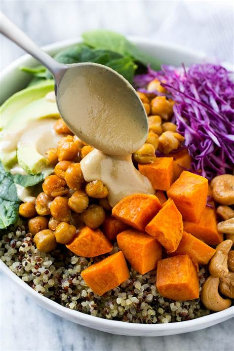 Buddha Bowls with Sweet Potatoes and Chickpeas - Dinner at