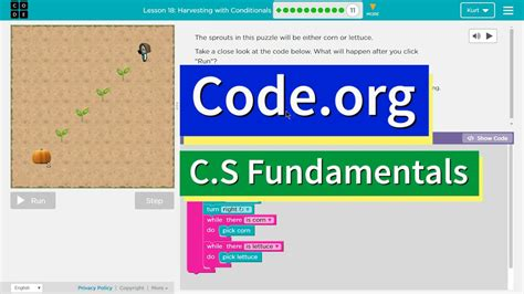 Harvesting with Conditionals CS Express Lesson 15