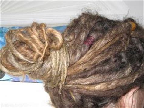 dread perm with synthetic extensions before and after