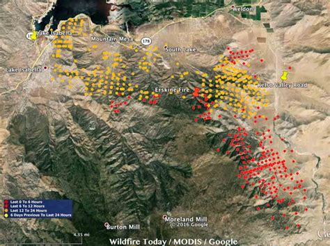 Erskine Wildfire in Lake Isabella [MAPS]: 2 Killed and 100