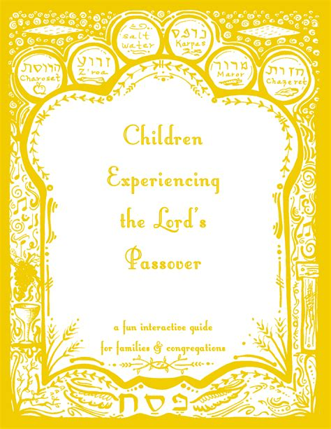 Children Experiencing the Lord's Passover - Visual Story Bible