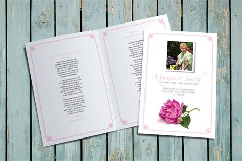 Peony funeral order of service