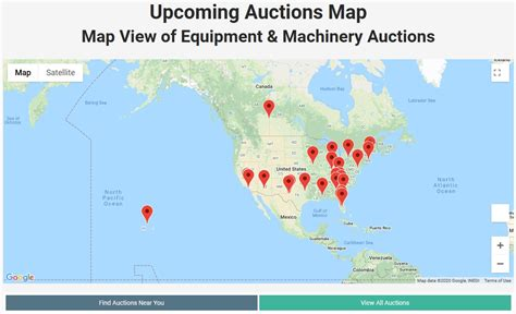 Upcoming Auction Map