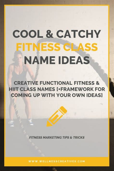 Catchy HIIT & Functional Fitness Class Names [+ DIY Idea