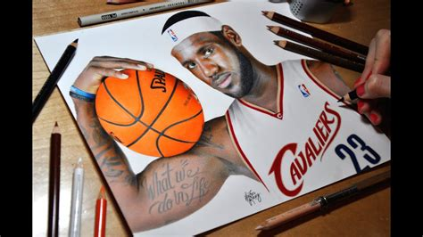 Drawing LeBron James - Cleveland Cavaliers - YouTube