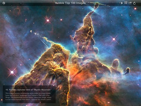 Screenshot from ESA/Hubble top 100 images v2