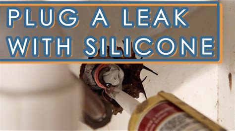 How To Fix A Leaking Faucet With Silicone Sealant - YouTube
