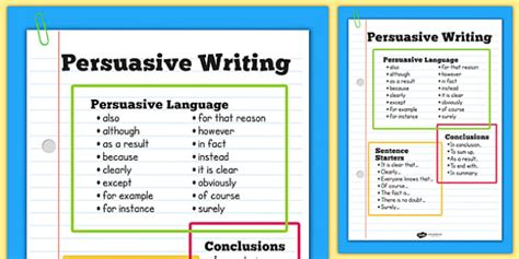 Persuasive Writing Poster - persuasion, posters, literacy