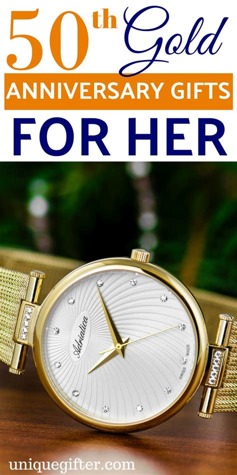 50th Gold Anniversary Gifts for Her - Unique Gifter