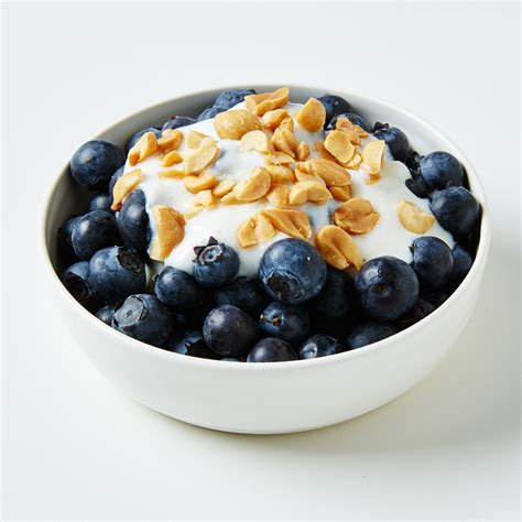 Peanutty Vanilla Yogurt with Blueberries - Meal for One