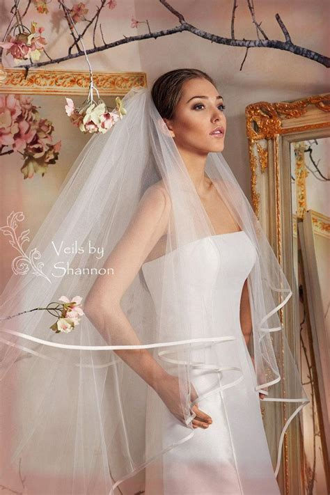 2 Tier Cathedral Veil With Ribbon Edge,cathedral Ribbon